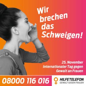 2020_Schweigen brechen_Internationaler Tag gegen Gewalt an Frauen