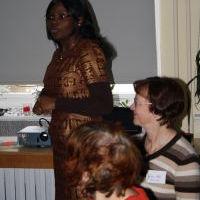 Vorbereitung WGT 210 in Weimar, Octavie D. aus Kamerun
