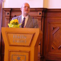 Kirchenrat Christian Fuhrmann moderiert die Grußstunde
